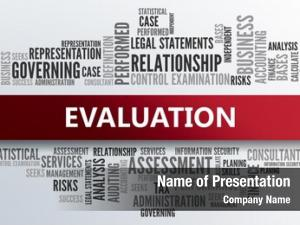 Abstract evaluation business concept