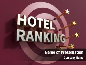 Advertising hotel ranking, headline dartboard,