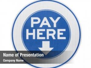 Municipal pay here parking meter