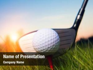 Ball golf club grass sunlight