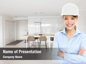 Business home architect woman house