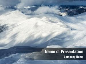 Landscape fantastic winter snowy hills