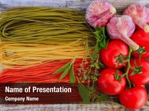 Italian italian cuisine tricolor pasta