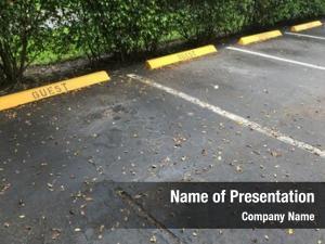 Guest close empty parking space