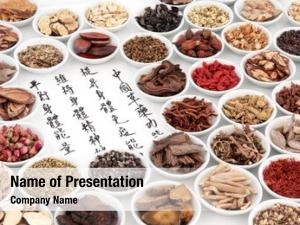 Medicine chinese herbal ingredients calligraphy