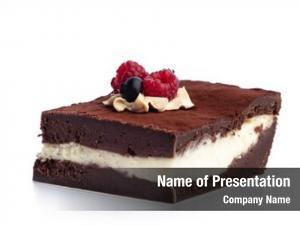 Cake piece chocolate white