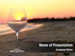 Wineglass on the seashore