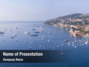 Beautiful panoramic view coastal resort