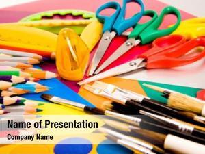 Lying colorful pencils colorful cardboard