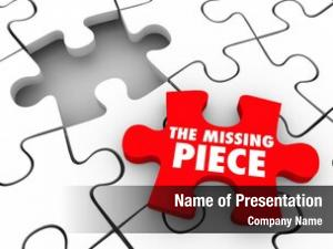 Words missing piece red puzzle