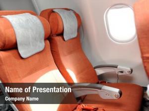 Airplane orange seats cabin airbus