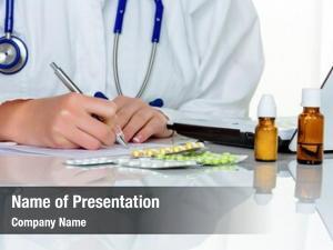 Prescription doctor writes tablets