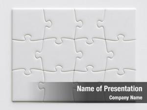 Blank puzzle game pieces