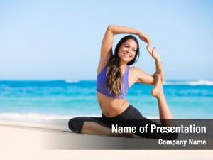 Woman beautiful young yoga pose