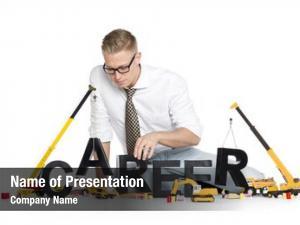 Concept: build career focused businessman