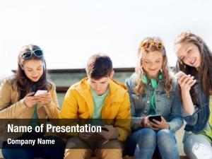 Addiction technology, internet people concept