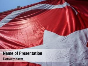 Fabric close waving flag turkey,