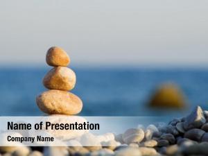 Sea balanced stones