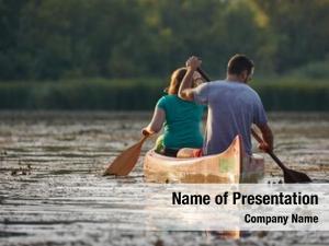 Natural canoeing beautiful environment, sunset