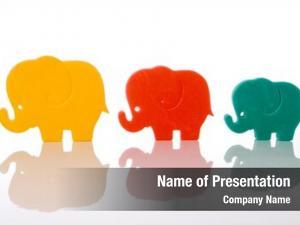 Over elephant family white