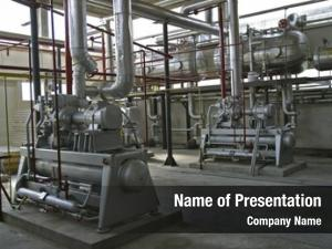 Pipe industrial compressors work factory