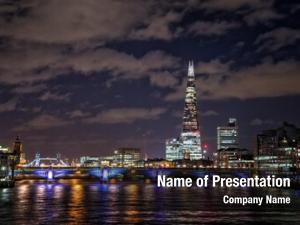 Thames view along millennium bridge,