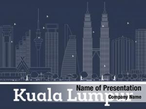 Lumpur outline kuala malaysia city