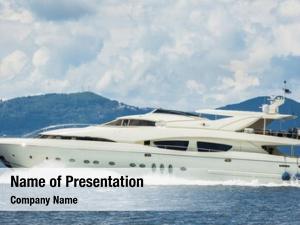 Motor luxury expensive yacht sea