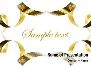 Made background abstract golden ribbon