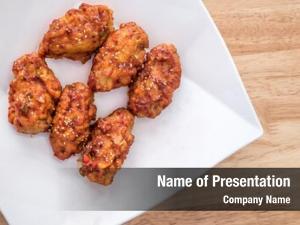 Fried spicy korean chicken sesame