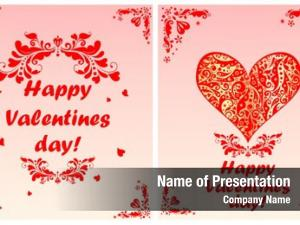 Valentines greeting cards day red