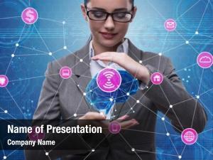 Concept artificial intelligence brain businesswoman
