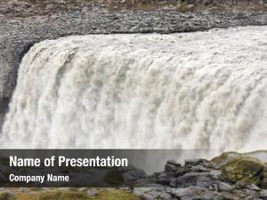 Landscape amazing iceland dettifoss waterfall
