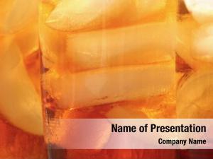 Ice ice tea cubes