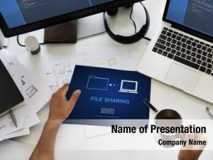 Transfer file sharing data concept