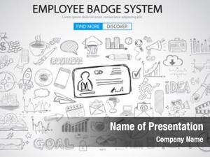 System employee badge concept doodle