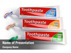 Different tubes toothpaste colors differnt