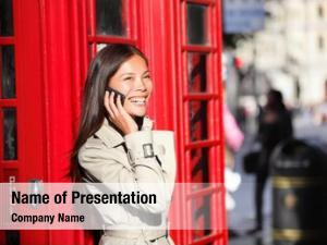 Woman london business smart phone