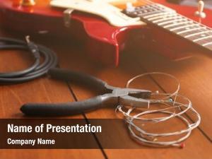 Pliers electric guitar strings wooden