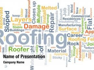 Wordcloud background concept roofing