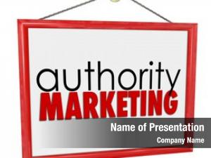 Words authority marketing business, company