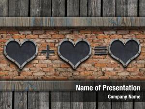 Shaped blackboard heart brick wall