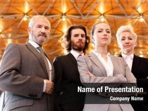 Business group caucasian women men
