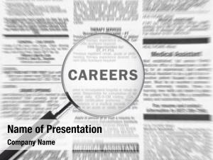 Over magnifying glass word careers