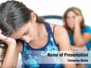Depressed teenage problems, teenage girl