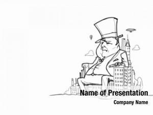 Banker caricature funny man white