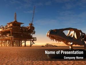 Oil dinosaur skeleton station desert
