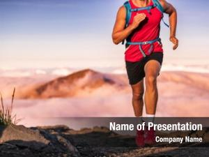 Trail man athlete running mountains