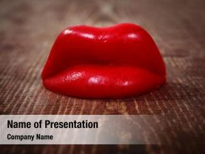 Wooden wax lips