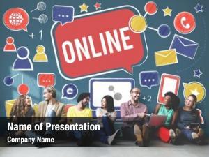 Connect online communication technology internet